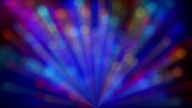 Dense Multi Colored Bokeh Light Rays video