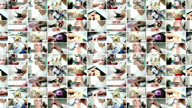 Dental prosthetic. Video Wall. video