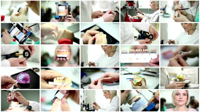 Dental prosthetic. Video Wall. video