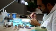 Dental tehnician at work(Canon 5D Mark III) video