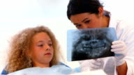 Dentist showing a patient an xray of teeth video