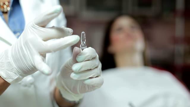 Dentist with syringe video