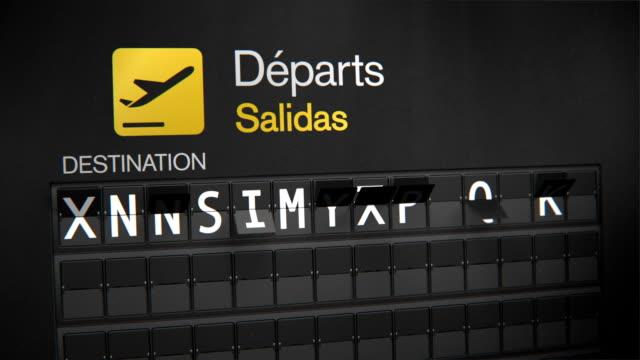 Departures Flip Sign: Caribbean cities video