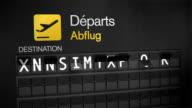 Departures Flip Sign: European cities video