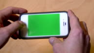 Deposit Check with Cell Phone Green Screen video