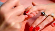 deposition of red nail polish video