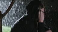 Depressed girl in the rain video
