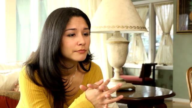 Depressed Latin Woman Alone video