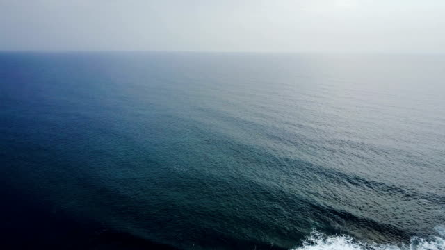 depths of the sea . Infinite space of water and sky. Horizon. video