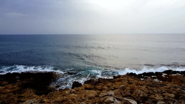 depths of the sea. Infinite space of water and sky. Horizon video