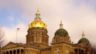 Des Moines Iowa Capital Building Government Dome Architecture video