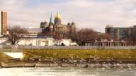 Des Moines Iowa Riverfront Capital Building Government Dome Architecture video