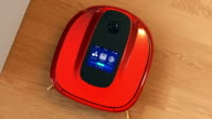 Description of robotic vacuum cleaner's touch screen interface video