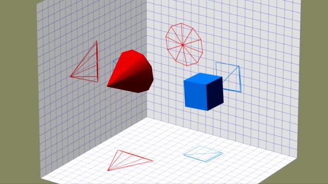 Descriptive geometry 3D projection video