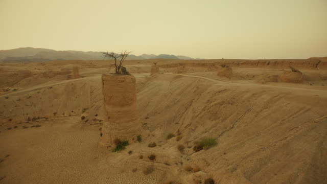 Desert Landscape. Aerial shooting video