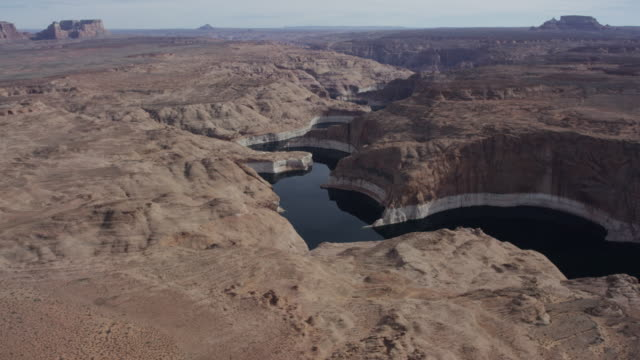 Desert river/arm of Lake Powell in Arizona and Utah video