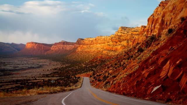 Desert Road Sunset video