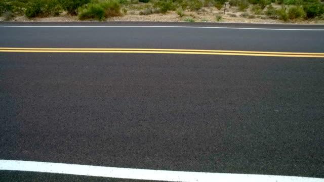 Desert Road Walk Along Side View video