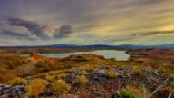 Desert Sunrise Crane Shot video