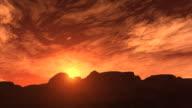 desert sunrise video