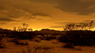 Desert Sunset Timelapse gives way to amazing night sky stars video