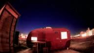 Desert Trailer At Night - Long Exposure Timelapse video