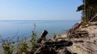 Deserted sandy seashore, Baltic sea video