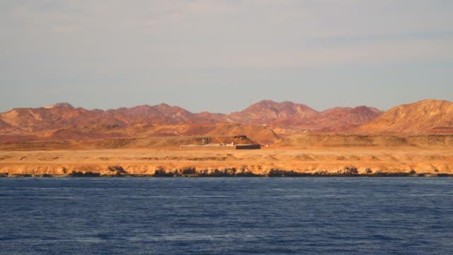 Deserted shore of Sinai Egypt video