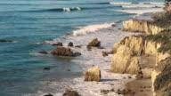 Deserted Wild El Matador Beach Malibu California Ocean Waves with Rocks video