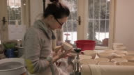 Design Studio. Young Woman making Art and Craft Product video