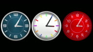 Design wall clocks. Loopable. Luma matte. video