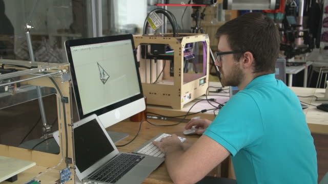 Designer Creating 3d Printing Models video