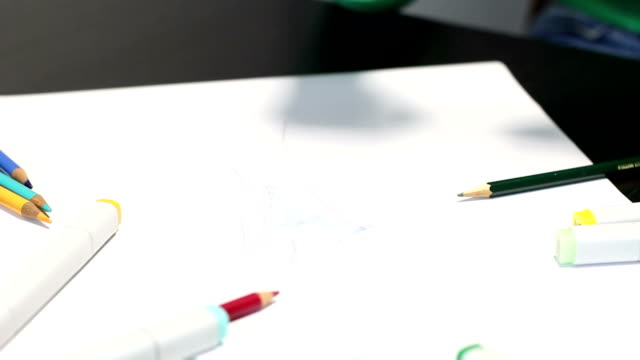 Designer sketching HD video