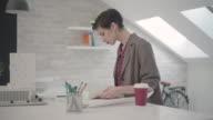4K: Designer Working In Her Office. video