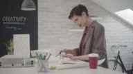 4K: Designer Working In Her Office. video