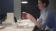 4K: Designer Working Late In Her Office. video