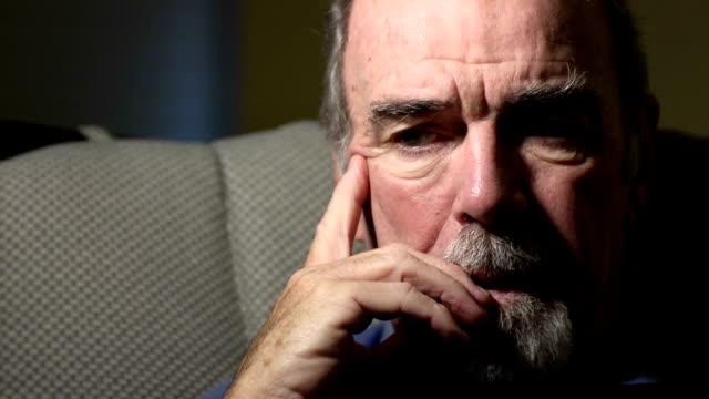 Despairing Senior Man - ECU video