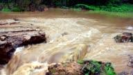 Destruction process. Flooding road, 1080p. video