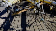 Detached masts and rigging of sailing ship video