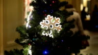 Detail from a beautiful illuminated christmas tree video