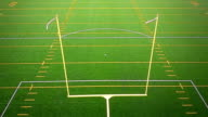 Detail of American Football Field Goal Post video