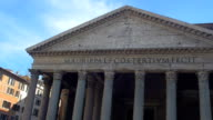 Detail of The Pantheon in Rome, Italy. video