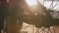 Detail shot of BMX bike video