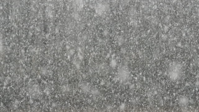 Detail shot of thick snowfall video