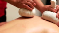 Detailed look of Massage with Herbal Pouches video