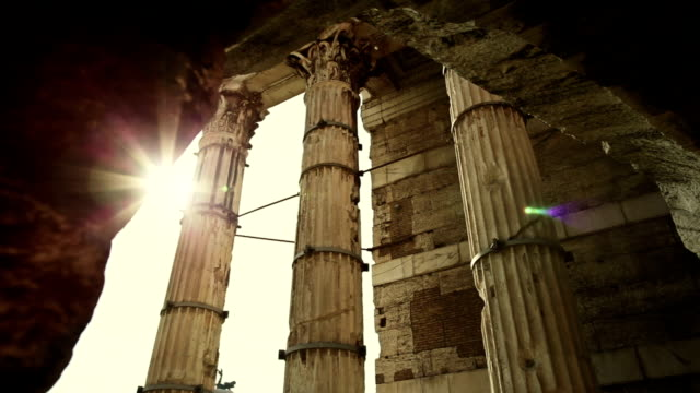 Details of capitols at the Roman Forum video