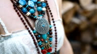 Details of ethnic jewelery video