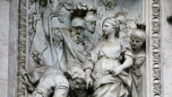 Details of statues at Trevi Fountain in Rome video