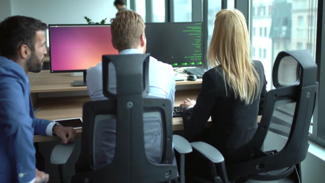 Developers at work, 4k video