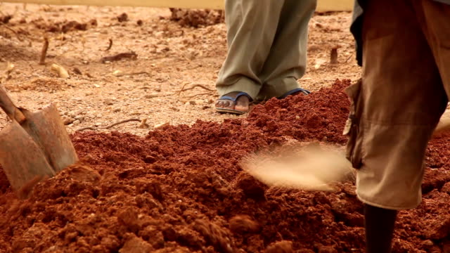 Development project in Africa: Men digging video